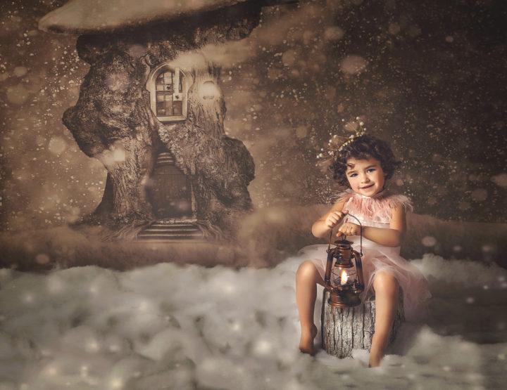Fotografía de Navidad para niños en Toledo
