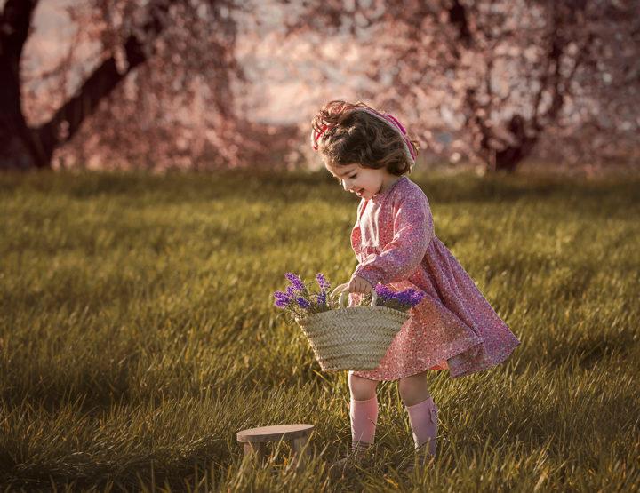 Sesión de fotos de niños en el campo en Toledo